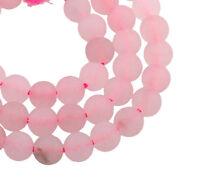 Rosa Quarz Perlen 8mm Natürliche Edelsteine Schmucksteine A Grade BEST G768
