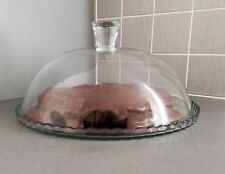 Glass Dome Cheese Cake Stand Cupcake Table Plate Wedding Birthday Dinner Party