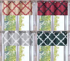 1PC VALANCE Geometric Design Blackout Lined Window Curtain Grommet Panel MOZA