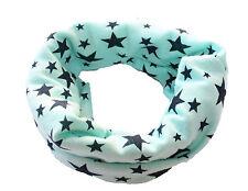 Kid Boy Girl Multi Function Neck Warmer Scarf Hat Stars Checked Cartoon Ballet Green-seafoam