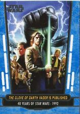 Star Wars 40th Anniversary Blue Base Card #76 The Glove of Darth Vader is Publi