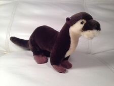 "Plush OTTER - Realistic stuffed toy-  11"" Conservation Collection"