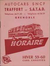 More details for horaire. autocars sncf traffot et s.a.t.a.d. grenoble time table. france ri.1455