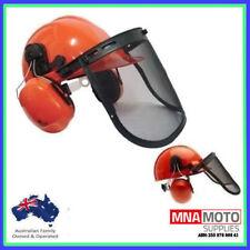 CHAINSAW BRUSHCUTTER SAFETY HELMET MESH VISOR & EAR MUFFS BRAND NEW