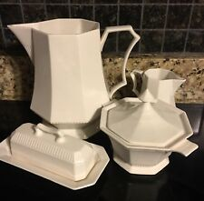 """NIKKO Classic """"White Collection"""" 7.8"""" Pitcher, Butter Dish, Sugar and Creamer"""