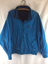 Vintage 1980s Jacket Reversible Blue/Black Lightweight Cotton Mens Large Punk