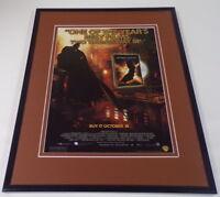 Batman Begins 2005 Framed 11x14 ORIGINAL Vintage Advertisement Christian Bale