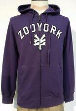 Zoo York Hooded Zip Sweatshirt Skateboarding/Longboarding Farbe Lila Größe S