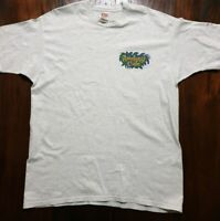 VINTAGE 2000 XL Grey Graphic T Shirt Size XL Fruit of the Loom Rainforest A14