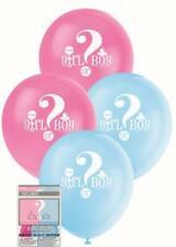 BABY SHOWER GENDER REVEAL BALLOONS GIRL OR BOY  PACK OF 8