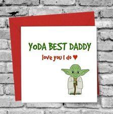 STAR WARS GREETINGS CARD DADDY I LOVE YOU FUNNY HUMOUR YODA BIRTHDAY CHRISTMAS