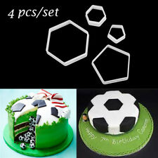 4Pcs Football Cookie Cutter Cake Fondant Mold Decorating Sugarcraft Mould Tools
