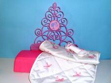 %***Barbie Möbel,Fashionistas Bett mit Kissen und Wendedecke,umbaubar***%