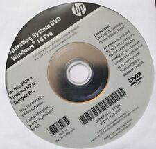 New Windows 10 64 bit Operating System HP Compaq Genuine Repair Recovery DVD.