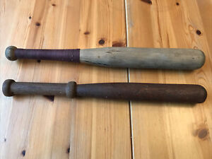 TWO VINTAGE ROUNDERS BATS