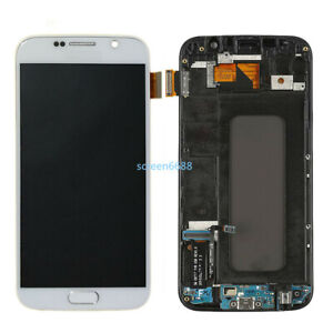 Für Samsung Galaxy S6 G920F LCD Display Touch Screen Digitizer+Rahmen Weiß+Tools