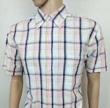 "Gant Mens Shirt Pinpoint Oxford Regular Fit Plaid Check Size L Chest 44"" RRP£90"
