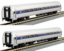 Kato N Scale 106-8003 Amtrak Amfleet I Phase VI Coach-Cafe Two Car Set B New!
