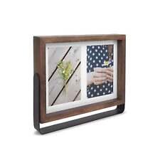 "Umbra Axis Multi Photo Holder Display 4x6"" Walnut Brown"
