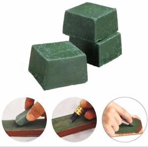 Green Leather Strop Sharpening Abrasive Polishing Compounds Wax Leathercraft