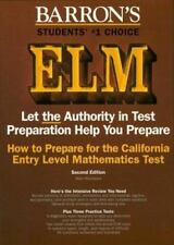 How to Prepare for the California Entry Level Mathematics Test (Barron's)