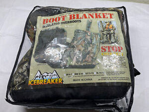 NEW Icebreaker Boot Blankets Insulated Hunting Overboots Men Large 11 12 13 Camo