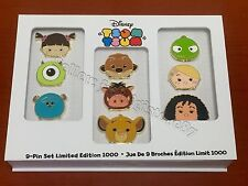 Disney Store Tsum Tsum Limited Edition Pin Set Tangled Lion King Monster Inc NEW