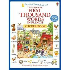 First Thousand Words in French Sticker Book by Heather Amery (Paperback, 2014)