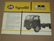 Prospectus  Camion  OM  TIGROTTO 5 t  1963  brochure  catalogue truck LKW
