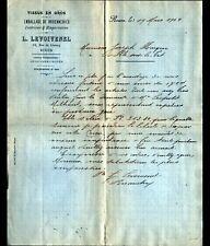 """ROUEN (76) TISSUS / FILATURE """"L. LEVOIVENEL"""" Lettre en 1904"""