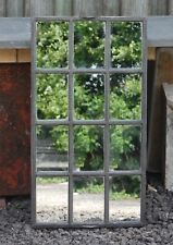 ANTIQUE UPCYCLED CAST IRON WINDOW MIRROR INDUSTRIAL ref 1094