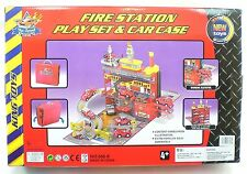 Hot Fire Station Garage Wheels Play Set And Car Case