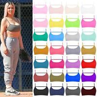 New Womens Plain Backless Sports Bra Open Back Vest Cami Bralet Bra Crop Top
