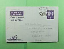 DR WHO 1962 FIJI SUVA AEROGRAMME TO USA  f51363