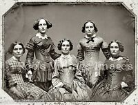 Clark Sisters Portrait Reprint Photo The original Tintype dates to1858