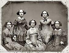 Clark Sisters Portrait Reprint Photo The original Tintype dates to1858