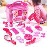 Girls Princess Pretend Makeup Toy Set Hairdressing Cosmetic Carry Case Kids Gift