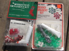 VINTAGE CHRISTMAS ORNAMENT KITS-2-FIBRE CRAFT AND EMILIE-N.I.P