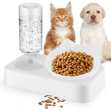 Gomyhom Cat Dishes for Food and Water,Detachable Gravity Bowl Dog Food Feeder,Wi