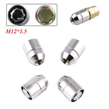 4+1 STEEL WHEEL LOCKS Nut M12x1.5 CHROME LOCKING LUG NUTS  for Mounting/Removing