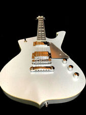 NEW SILVER SPARKLE ICEMAN STYLE 6 STRING SOLID BODY ELECTRIC GUITAR