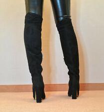 High Heels Überknie Stiefel Damen Männer Boots EU42 UK8 US11 11cm Absatz