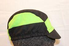 CYCLING CAP 7 PANELS BLACK&GREEN  100% COTTON HANDMADE