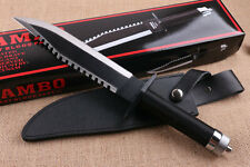 "RAMBO II FIRST BLOOD Signature 16"" 6mm multi-function Survival hunting knife"