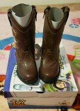 Toy Story Toddler Boys Western Boots Faux Leather Slip On Woody Brown Size 5 New