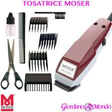 Moser 1400-0278 Tagliacapelli Professionale a Rete con Accessori - Rosso