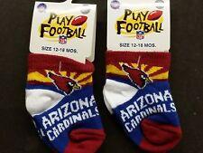 NFL Infant Baby Socks (Size 12-18 Months) Arizona Cardinals #1-2 (2 Pair)