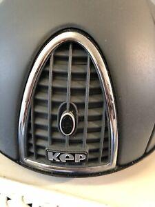 KEP Grey chromo XC jockey Skull Riding Hat RRP £450 Size 55cm