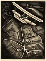 Howard Cook : Airplane : 1930 : Archival Quality Art Print