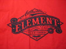NWT- Mens ELEMENT Red Cotton LOGO T-Shirt (SMALL)